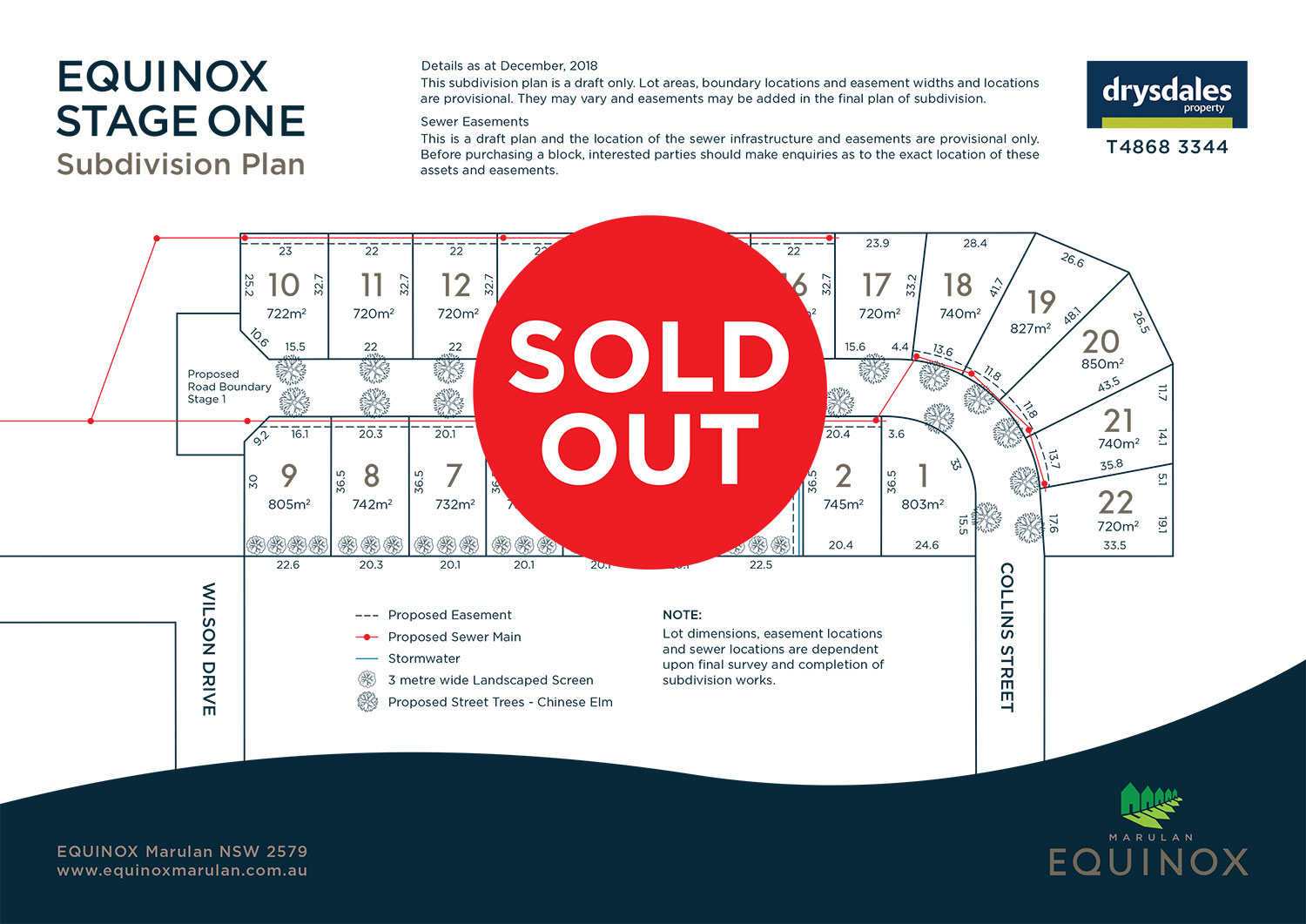 Equinox Stage 1 Development Sold Out